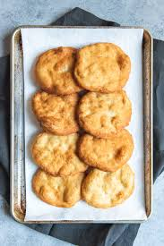 a tray full of homemade indian fry bread for making navajo tacos