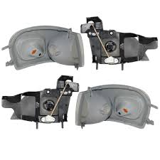 Amazon.com: 4 Piece Set of Headlights with Signal Side Marker ...