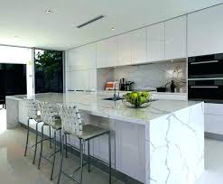 kitchen quartz waterfall countertop white island counter edge top reasons for islands waterfall edge