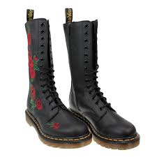dr martens vonda womens docs black leather mid