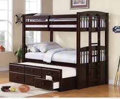 ... Modern Kids Bedroom Interior Decorating Design Ideas With Aspace Bunk  Beds : Exquisite Dark Brown Cherry ...