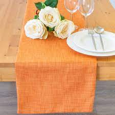 orange side table runners 36 inch long