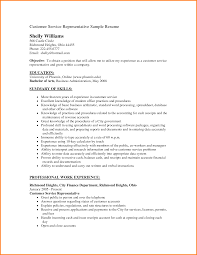 9 Resume Objective Examples For Customer Service Men Weight Chart