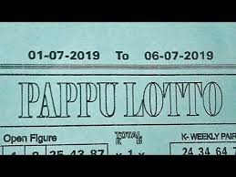 Lotto Chart Videos Matching 01 07 19 To 06 07 19 Pappu Lotto Weekly