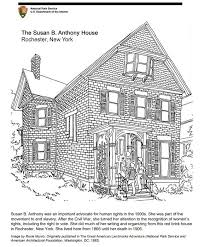 Printable coloring pages & activities for kids and family. Coloring Page Susan B Anthony House U S National Park Service