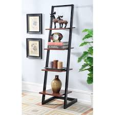 ... Amusing Ladder Bookcase Ikea Wall Bookshelves Black Metal Bookcase With  Brown Square Place Books ...