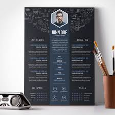 Creative Resume Template Download Templates Free Graphic Design