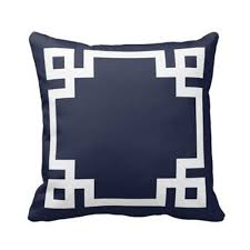 blue and white pillows. Beautiful White Amazoncom Navy Blue And White Greek Key Border Pillows Personalized 18x18  Inch Square Cotton Throw Pillow Case Decor Cushion Covers Home U0026 Kitchen To And U
