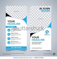 Dl Flyer Design Template Dl Corporate Stock Vector Royalty Free