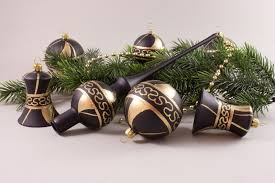 Weihnachtskugeln Im Set Schwarz Gold