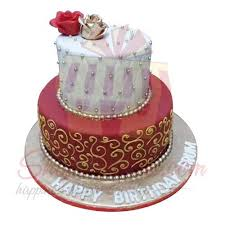 Send Cakes Special Birthday Cake 8lbs Black And Brown Gift To