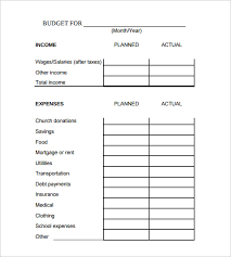 Sample Of Family Budget Sample Family Budget Calculator 8 Free Documents In Pdf