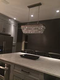 Long Kitchen Light Fixtures The Island Chandelier Pottery Barn Clarissa Glass Drop Extra Long