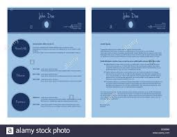 Resume Modern Ex Modern Cv Template Special Resume Design Stock Photo