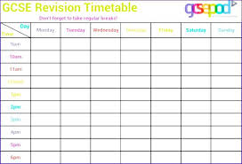Class Schedule Template Online Class Schedule Template Online College Timetable Weekly Sample