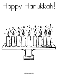 Small Picture Happy Hanukkah Coloring Page Twisty Noodle