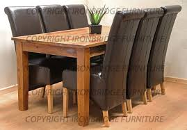 dining room table and 6 leather chairs dining room decor dining table with faux