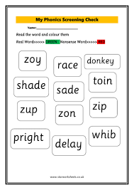 Download, print, or use the kindergarten our free phonics worksheets are great for everybody! Year 1 Phonics Screening Worksheet Teaching Resources