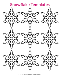 These free, printable snowflake patterns and templates will help you create beautiful paper snowflakes that you can use as a decoration around your you print a template on regular computer paper and then use the template lines to cut out your snowflake. Free Printable Small Snowflake Templates Simple Mom Project