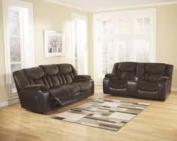 Two Loveseat Living Room Ashley Tafton Java Two Tone Texture Reclining Sofa And Loveseat Set