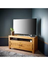 Solid Light Oak Corner Tv Unit Luxe Collection Grantham 100 Solid Oak Ready Assembled
