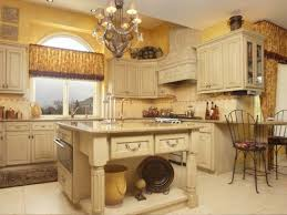 country style kitchen lighting. Country Kitchen Decorating Using Lamp Shade Chandelier Over Butcher Island Also Painted Cabinetry Style Lighting