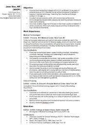 Template For Resumes Unique Gallery Of Medical Technologist Cv R Sum Example How To Write A Cv