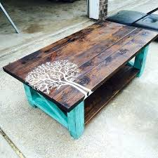 how to build a coffee table out of pallets painted tree pallet coffee are the best
