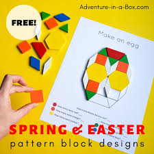 Easter Spring Pattern Block Design Templates Adventure
