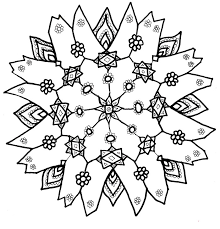 Small Picture Snowflake coloring pages for adults ColoringStar