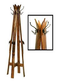 Classic Coat Rack Ski Hall Tree 75