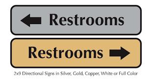 bathroom sign with arrow. Unique Arrow Restroom Wayward Signs On Bathroom Sign With Arrow S