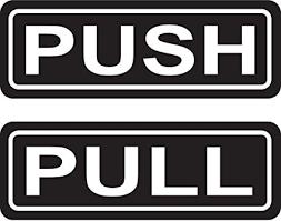 pull door sign. Fine Pull PUSH PULL Door Sign 2u0026quotx6u0026quot Sticker Decal Vinyl Business  Inside Pull Amazoncom