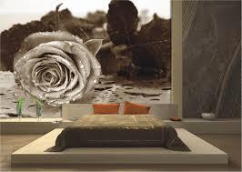 Wanddekoration Moderne Schlafzimmer Fototapeten Und Schöne Blumen
