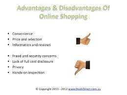 advantages and disadvantage of online shopping dealsdirect com au 3