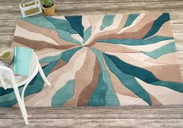 turquoise and brown area rugs