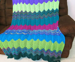 Ripple Afghan Patterns Gorgeous Free Knitting Pattern Michelle Wavy Ripple Afghan Throw