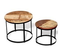 vidaxl two piece coffee table set solid