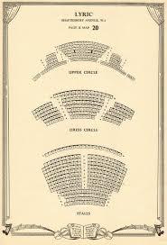 Lyric Theatre Seating Chart London Lyric Theatre Shaftesbury Avenue London Vintage Seating Plan C1955 Print