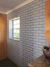 Painting a realistic faux brick wall