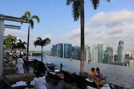 infinity pool singapore dangerous. Marina Bay Sands: Morning View From The Infinity Pool Singapore Dangerous T