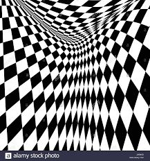 Checkered Design Black And White Checkered Curve Pattern Design For Abstract Stock