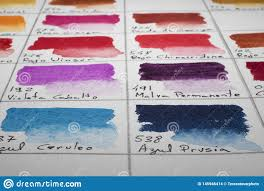 Watercolor Palette Chart Watercolor Color Chart Stock Photo Image Of Paint Color