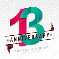 Anniversary Template Anniversary Emblems 13 Anniversary Template Design Royalty Free
