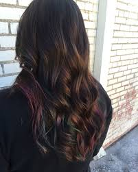Peacock Color Balayage For Brunettes