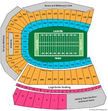 Louisville Seating Chart Football Cheap Papa John Stadium Tickets