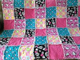 33 best i rag quilt - for sale images on Pinterest | Rag quilt ... & Hello Kitty Rag Quilt Blanket 60