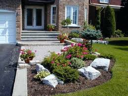 Small Picture Front Yard Landscaping Ideas With Rocks Front Yard Garden Designs