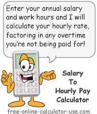 average salary calculator annual to hourly pay calculator