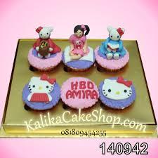 Cup Cakes 6 Pcs Hello Kitty Amira Kue Ulang Tahun Bandung